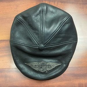 Harley Davidson leather hat with snap